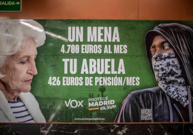 La Fiscalía investiga por un posible delito de odio al  nuevo cartel de Vox Madrid